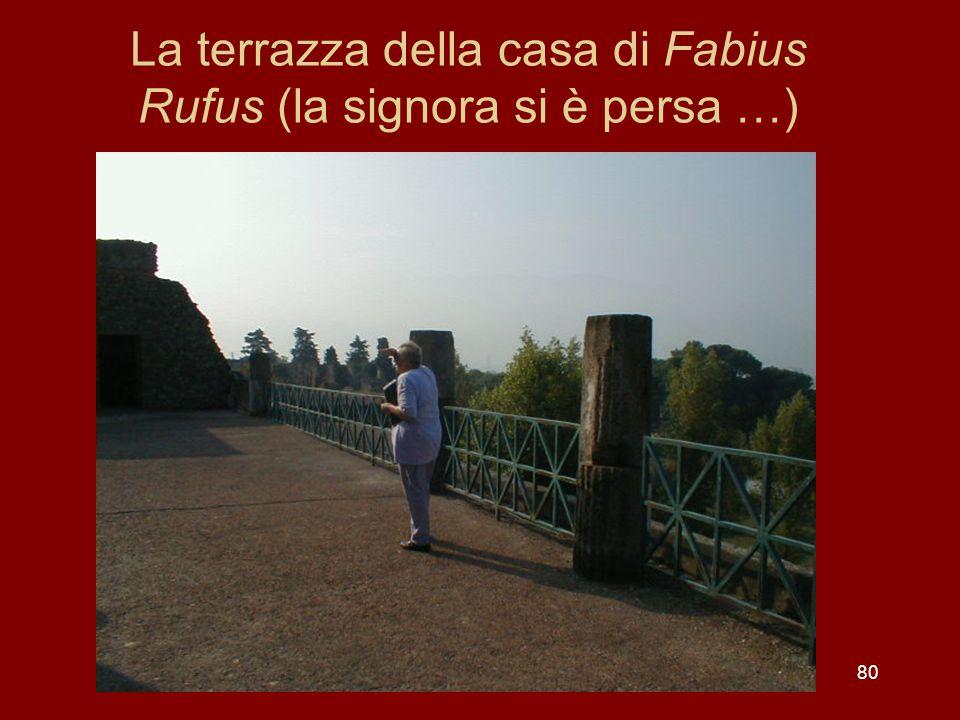 La terrazza della casa di Fabius Rufus (la signora si è persa …) 80