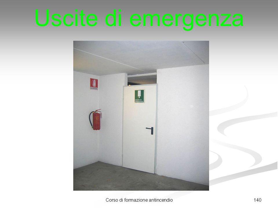 140Corso di formazione antincendio Uscite di emergenza