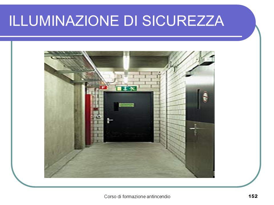 Corso di formazione antincendio152 ILLUMINAZIONE DI SICUREZZA