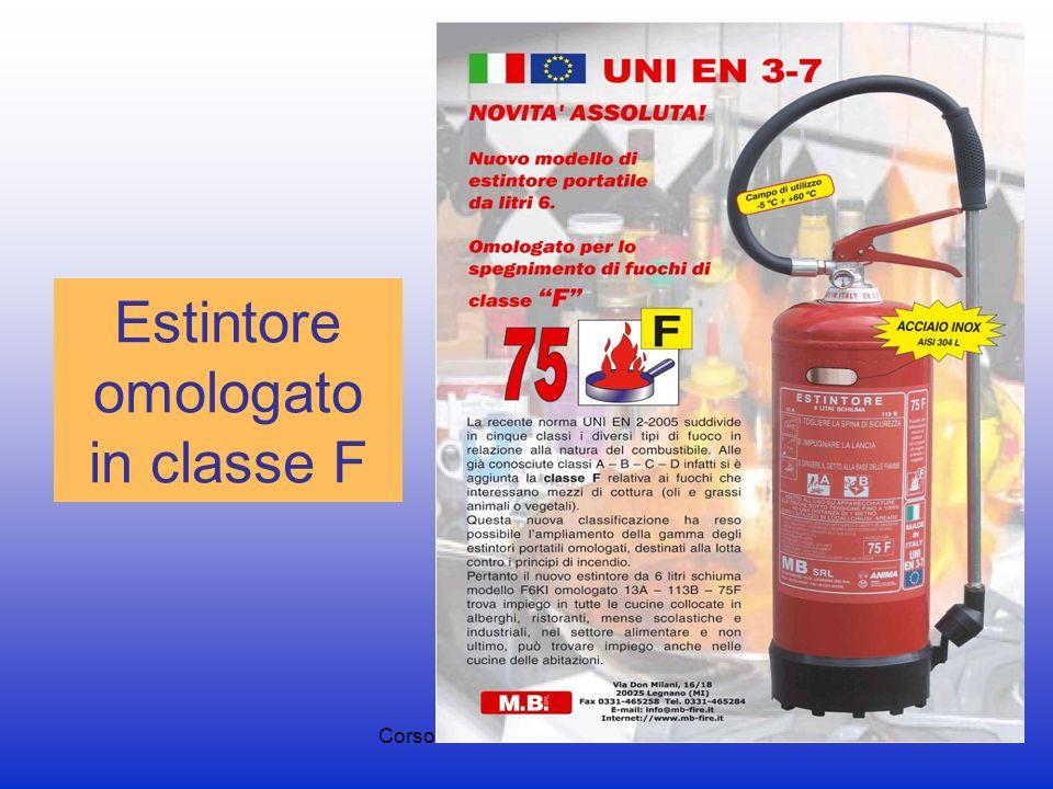 Corso di formazione antincendio65 Estintore omologato in classe F