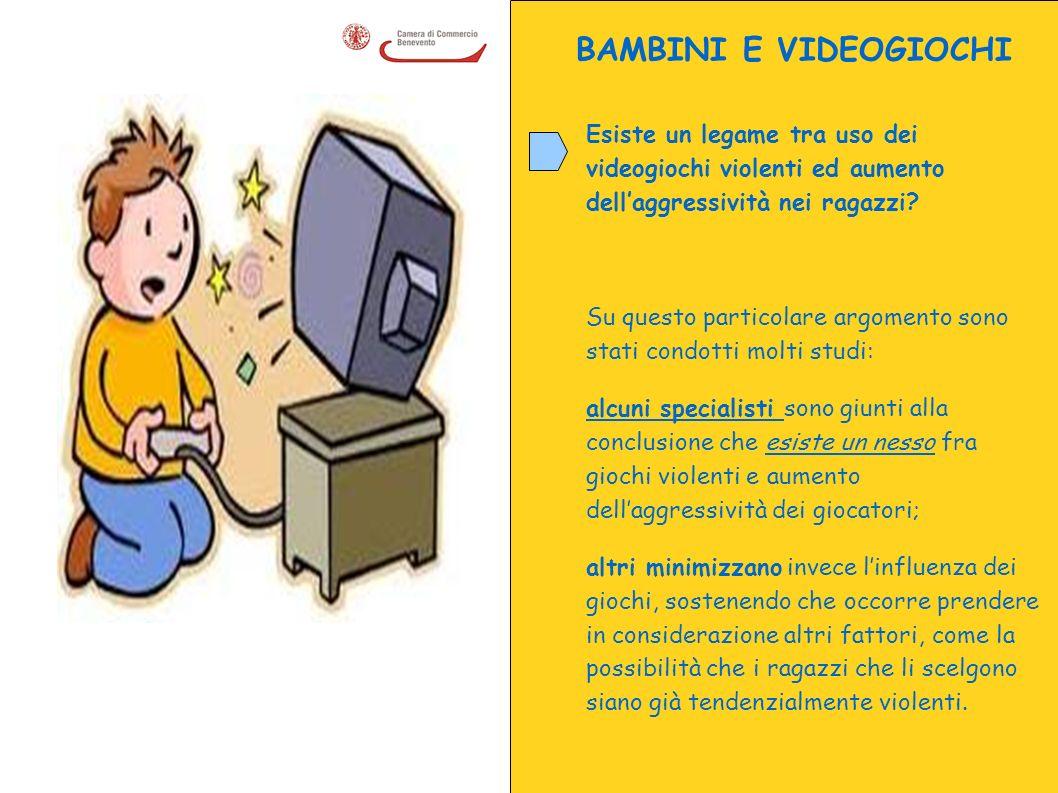 BAMBINI E VIDEOGIOCHI Esiste un legame tra uso dei videogiochi violenti ed aumento dellaggressività nei ragazzi? Su questo particolare argomento sono
