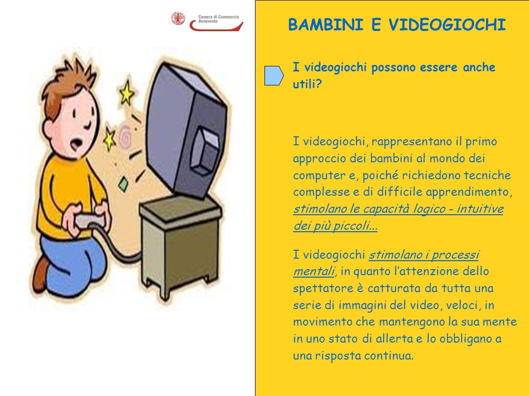 BAMBINI E VIDEOGIOCHI I videogiochi possono essere anche utili? I videogiochi, rappresentano il primo approccio dei bambini al mondo dei computer e, p