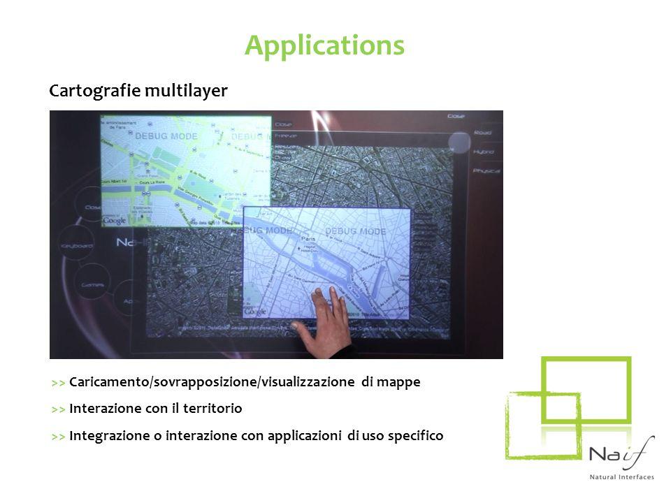Applications Cartografie multilayer >> Caricamento/sovrapposizione/visualizzazione di mappe >> Interazione con il territorio >> Integrazione o interaz