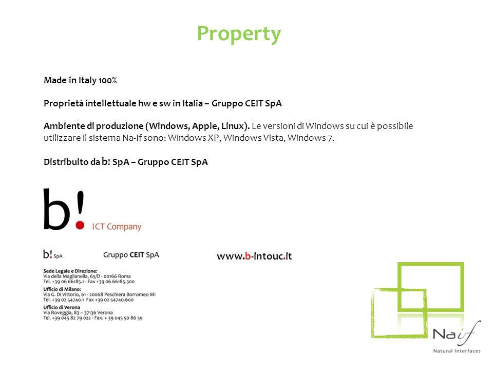 Made in Italy 100% Proprietà intellettuale hw e sw in Italia – Gruppo CEIT SpA Ambiente di produzione (Windows, Apple, Linux). Le versioni di Windows