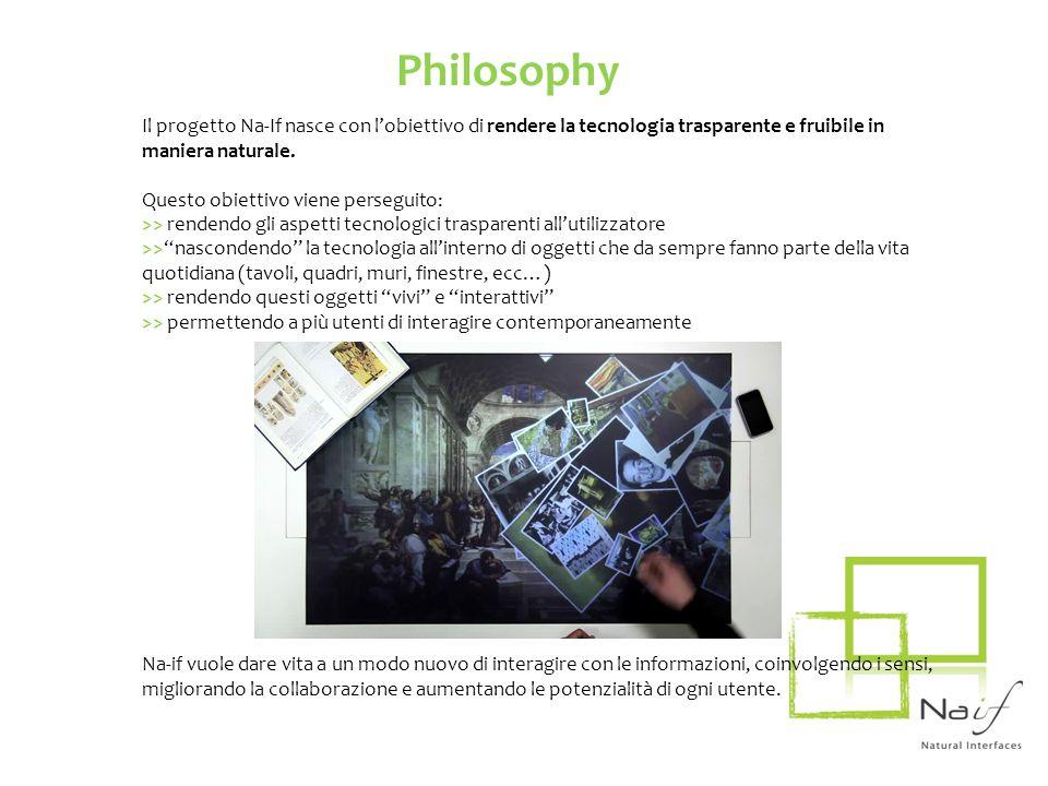 Il progetto Na-If nasce con lobiettivo di rendere la tecnologia trasparente e fruibile in maniera naturale. Questo obiettivo viene perseguito: >> rend