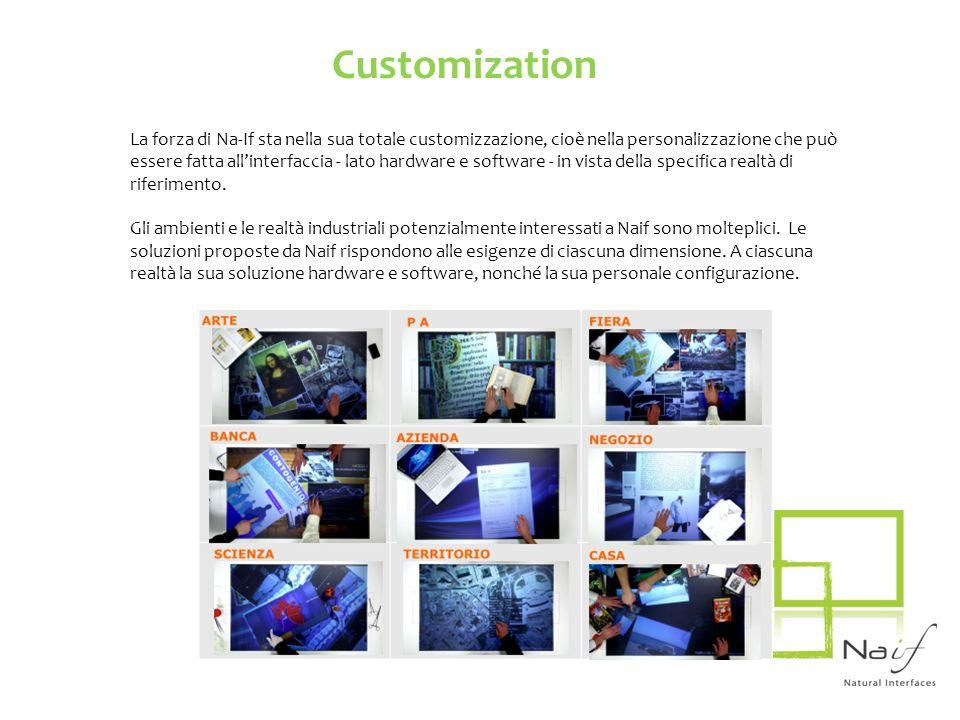 La forza di Na-If sta nella sua totale customizzazione, cioè nella personalizzazione che può essere fatta allinterfaccia - lato hardware e software -