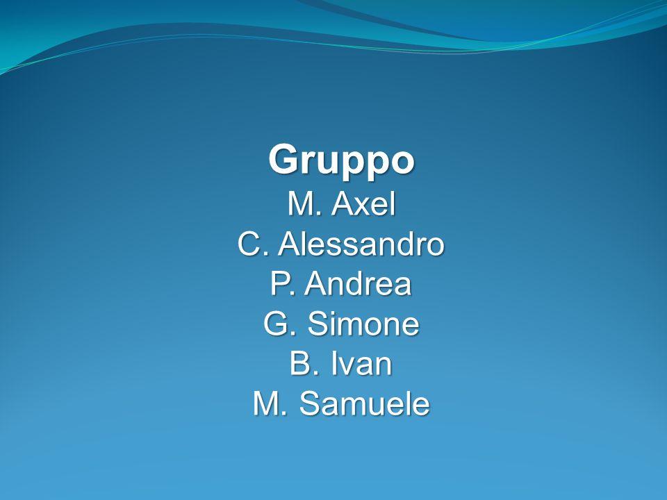 Gruppo M. Axel C. Alessandro P. Andrea G. Simone B. Ivan M. Samuele