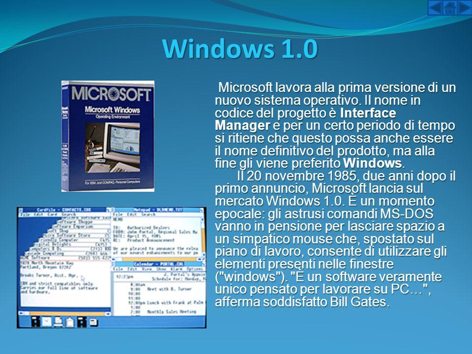 Windows 1.0 Microsoft lavora alla prima versione di un nuovo sistema operativo. Il nome in codice del progetto è Interface Manager e per un certo peri
