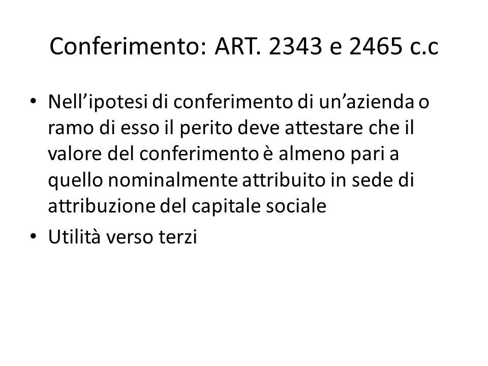 Conferimento: ART.