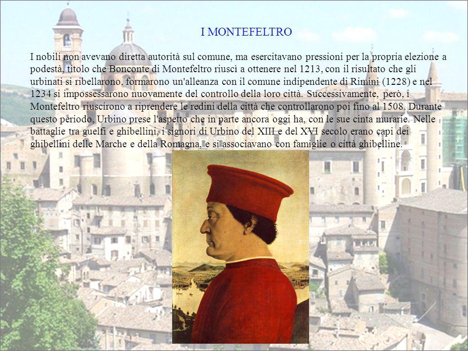 I nobili non avevano diretta autorità sul comune, ma esercitavano pressioni per la propria elezione a podestà, titolo che Bonconte di Montefeltro rius