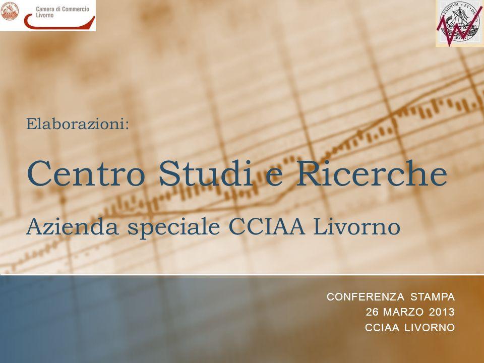 Elaborazioni: Centro Studi e Ricerche Azienda speciale CCIAA Livorno CONFERENZA STAMPA 26 MARZO 2013 CCIAA LIVORNO