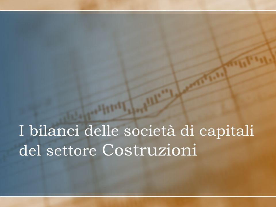 I bilanci delle società di capitali del settore Costruzioni