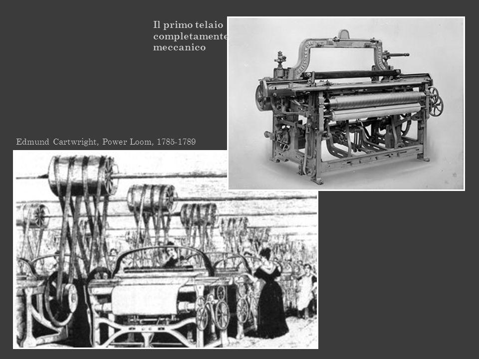 Edmund Cartwright, Power Loom, 1785-1789 Il primo telaio completamente meccanico