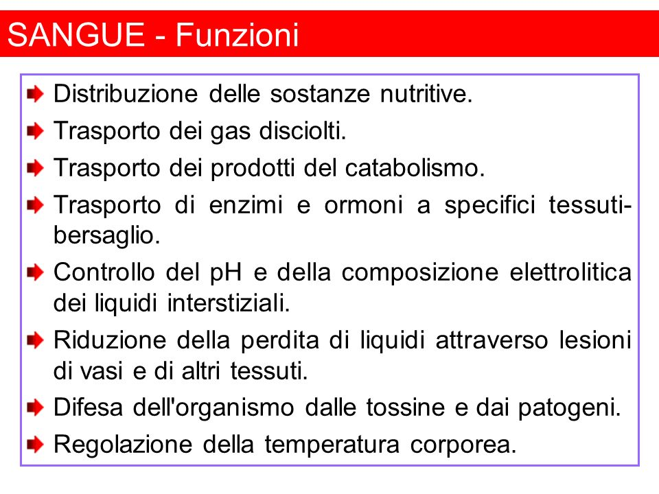 Sadava et al.,Biologia, 3E Edizioni Zanichelli SANGUE - Componenti