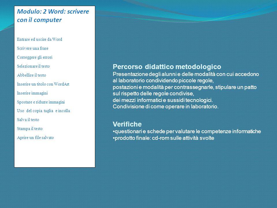 Obiettivi didattici: Potenziare la lingua italiana attraverso giochi/esercizi on line e cd Familiarizzare con il computer: attraverso Vi presento il c