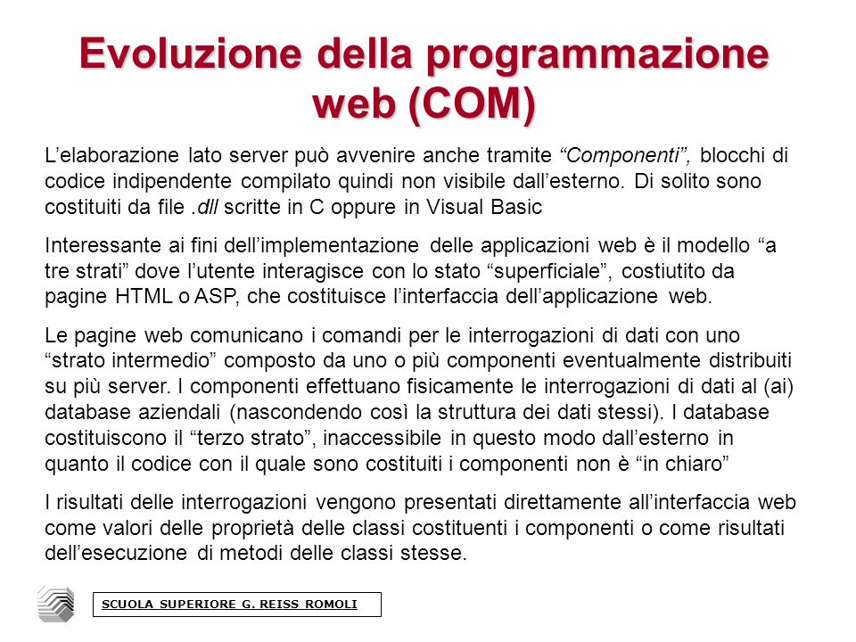 Poi la parte HTML con il richiamo della funzione select name=SelUrl onchange=VaiAUrl(document.FrmProva.SelUrl.options[document.FrmP rova.SelUrl.