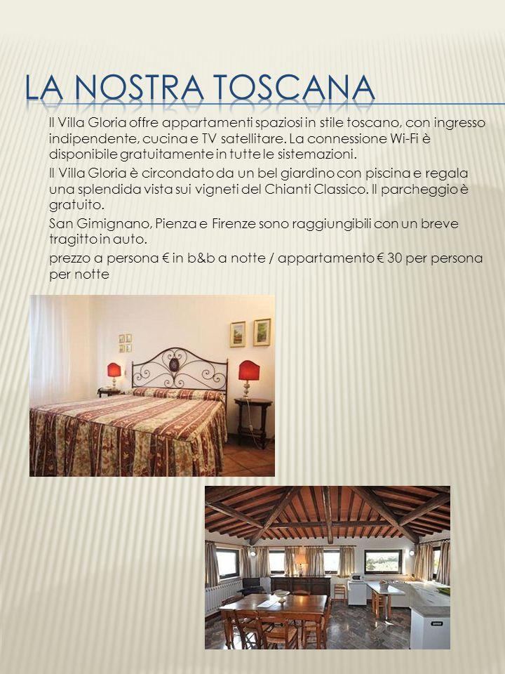 ll Villa Gloria offre appartamenti spaziosi in stile toscano, con ingresso indipendente, cucina e TV satellitare. La connessione Wi-Fi è disponibile g