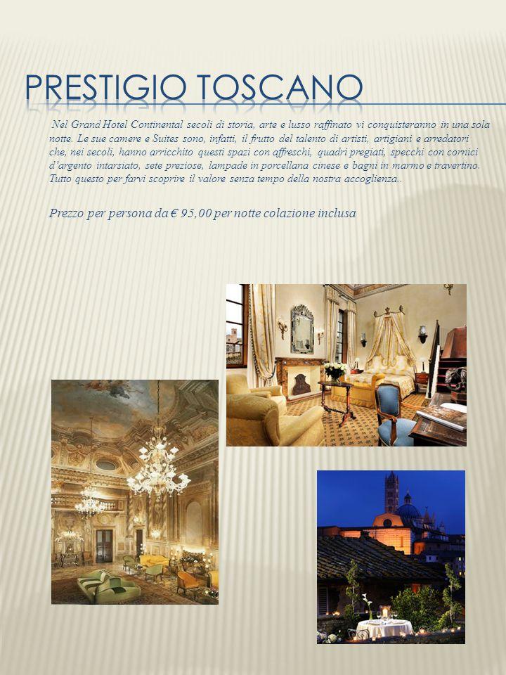 Nel Grand Hotel Continental secoli di storia, arte e lusso raffinato vi conquisteranno in una sola notte. Le sue camere e Suites sono, infatti, il fru