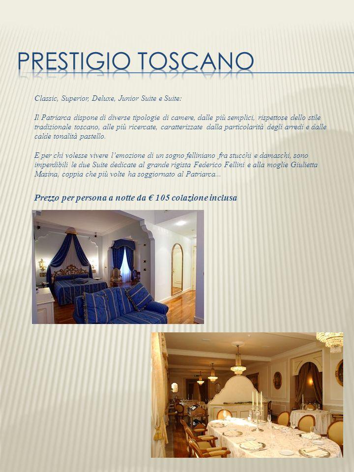Classic, Superior, Deluxe, Junior Suite e Suite: Il Patriarca dispone di diverse tipologie di camere, dalle più semplici, rispettose dello stile tradi