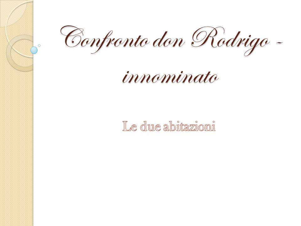 Confronto don Rodrigo - innominato