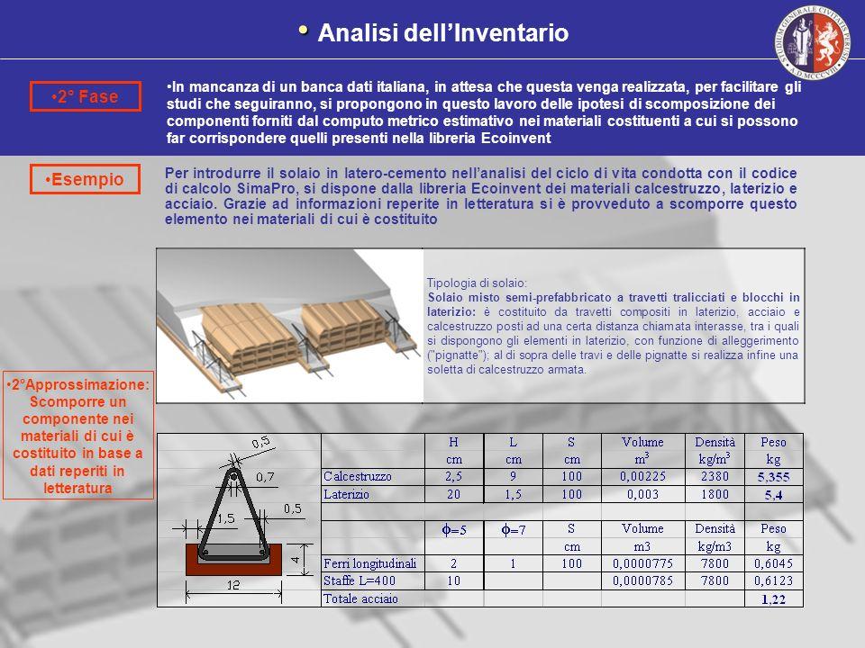 Esempio In mancanza di un banca dati italiana, in attesa che questa venga realizzata, per facilitare gli studi che seguiranno, si propongono in questo