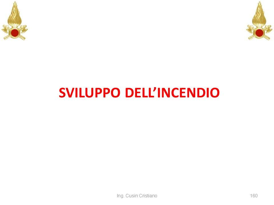 Ing. Cusin Cristiano160 SVILUPPO DELLINCENDIO