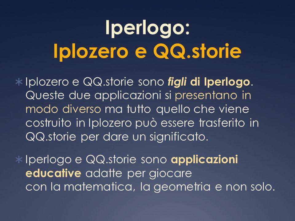 Iperlogo: Iplozero e QQ.storie Iplozero e QQ.storie sono figli di Iperlogo. Queste due applicazioni si presentano in modo diverso ma tutto quello che