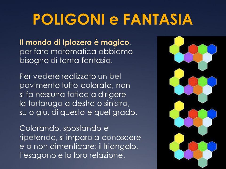 POLIGONI e FANTASIA Il mondo di Iplozero è magico, per fare matematica abbiamo bisogno di tanta fantasia. Per vedere realizzato un bel pavimento tutto