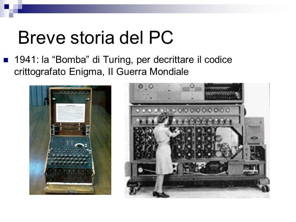 Breve storia del PC 1941: la Bomba di Turing, per decrittare il codice crittografato Enigma, II Guerra Mondiale