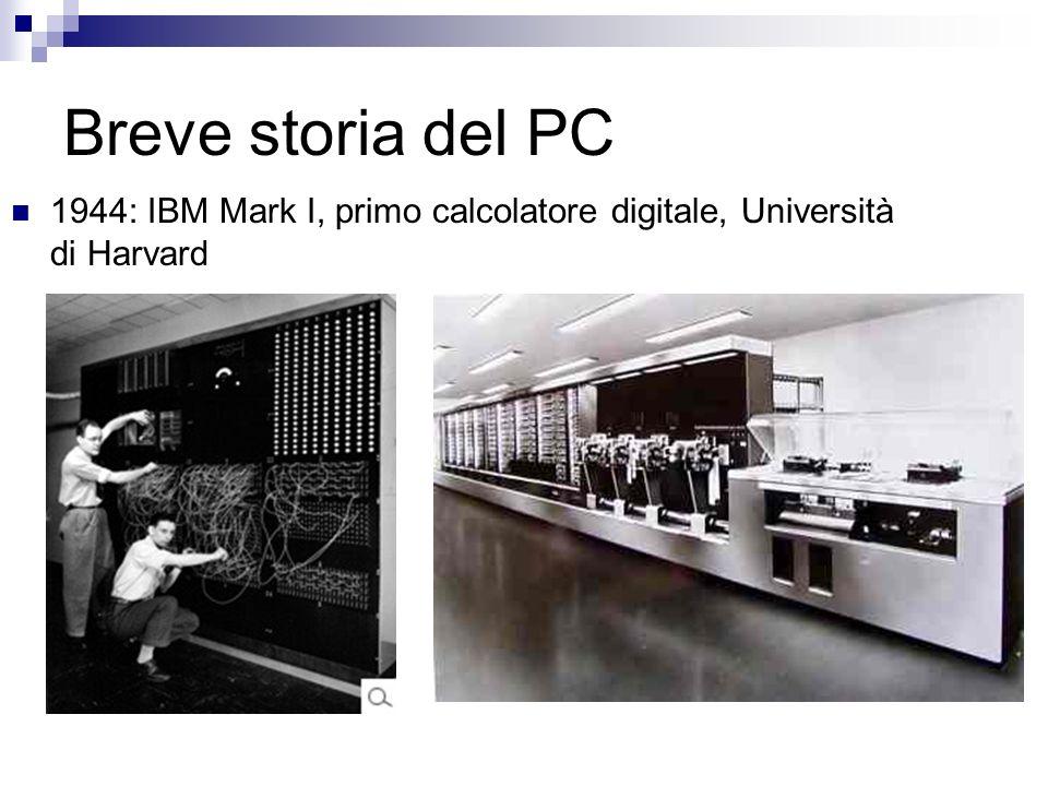 Breve storia del PC 1944: IBM Mark I, primo calcolatore digitale, Università di Harvard