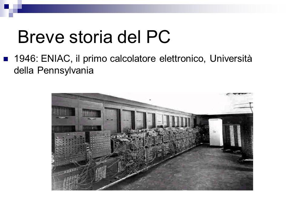 Breve storia del PC ENIAC