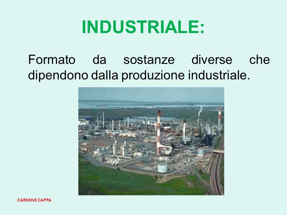 CARMINE CAPPA INDUSTRIALE: Formato da sostanze diverse che dipendono dalla produzione industriale.