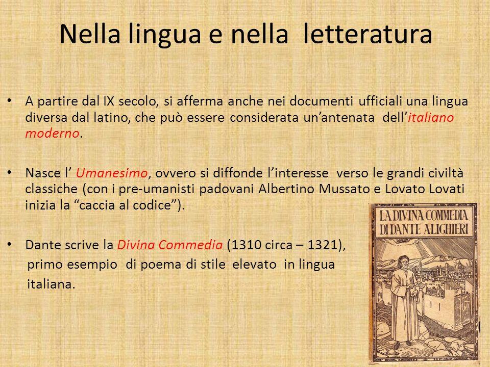 Nell arte Con Giotto e Cimabue (XIII secolo) ci sono i primi tentativi di prospettiva nella pittura; poi nel 1400 larchitetto Filippo Brunelleschi for