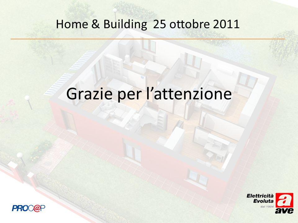 Home & Building 25 ottobre 2011 Grazie per lattenzione