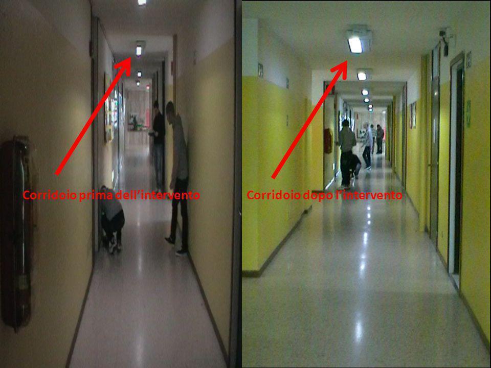 Corridoio prima dellinterventoCorridoio dopo lintervento