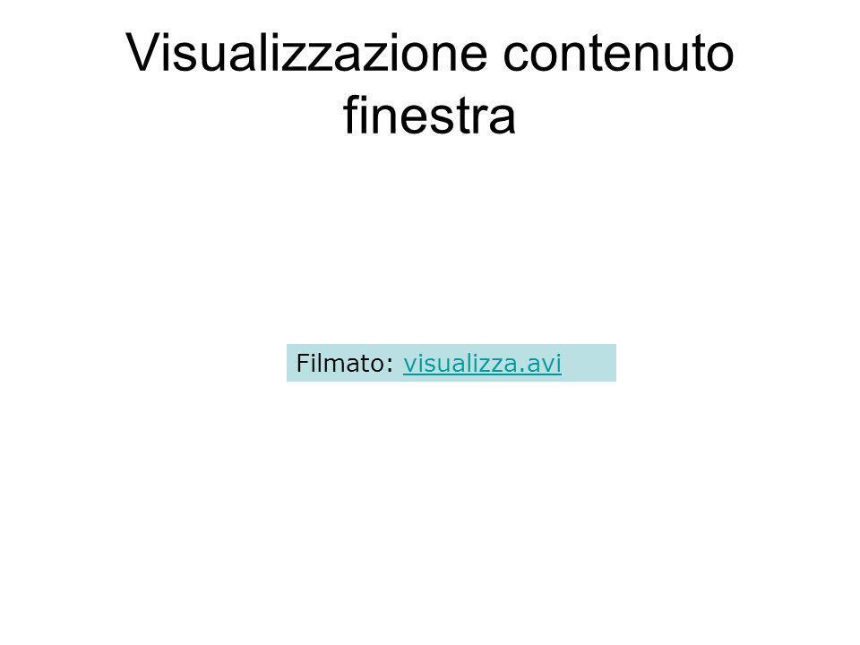 Visualizzazione contenuto finestra Filmato: visualizza.avivisualizza.avi