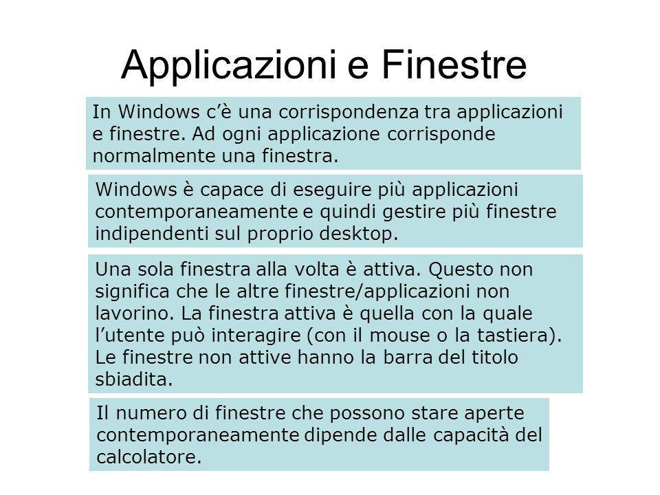 Finestre e menu Un menu è una lista di comandi correlati (organizzati in gruppi logici) che possono essere utilizzati per eseguire operazioni nelle finestre e nelle applicazioni in generale.