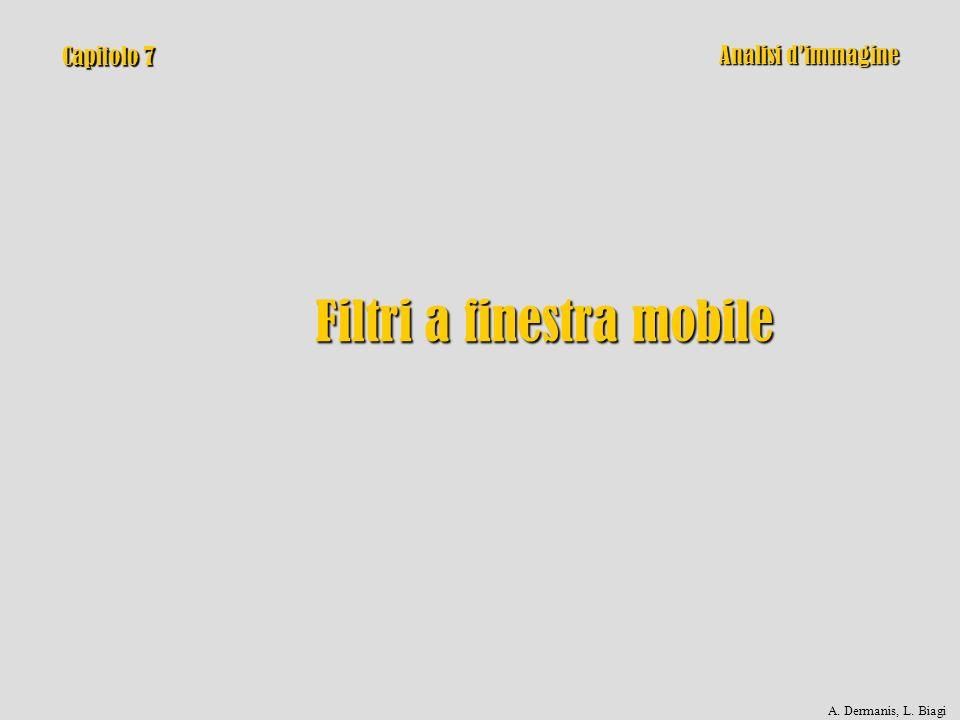 Capitolo 7 Filtri a finestra mobile Analisi dimmagine A. Dermanis, L. Biagi