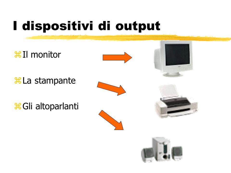 I dispositivi di input zLa tastiera zIl mouse zLo scanner