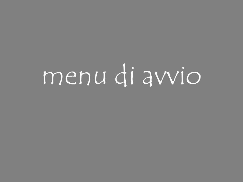 menu di avvio