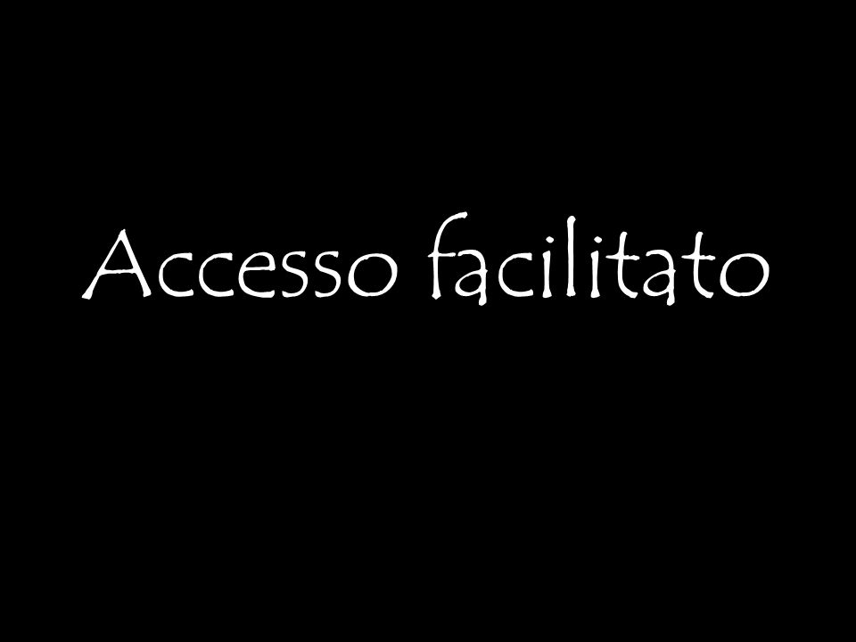 Accesso facilitato