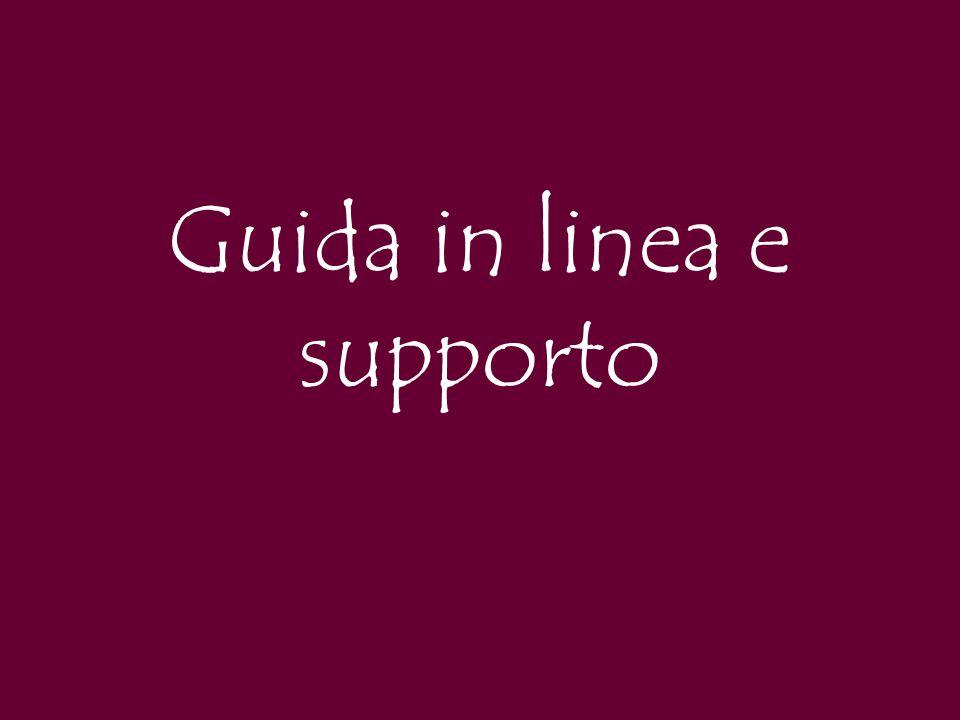 Guida in linea e supporto