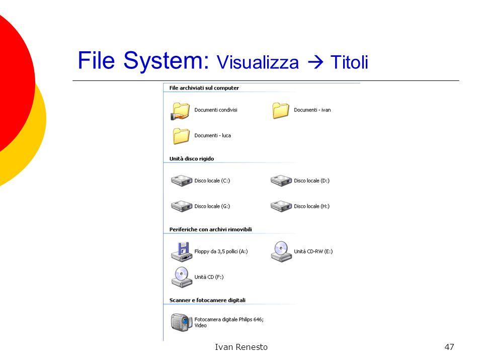 Ivan Renesto47 File System: Visualizza Titoli