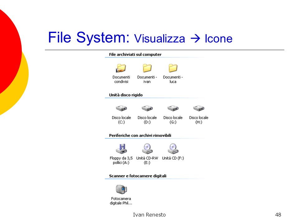 Ivan Renesto48 File System: Visualizza Icone