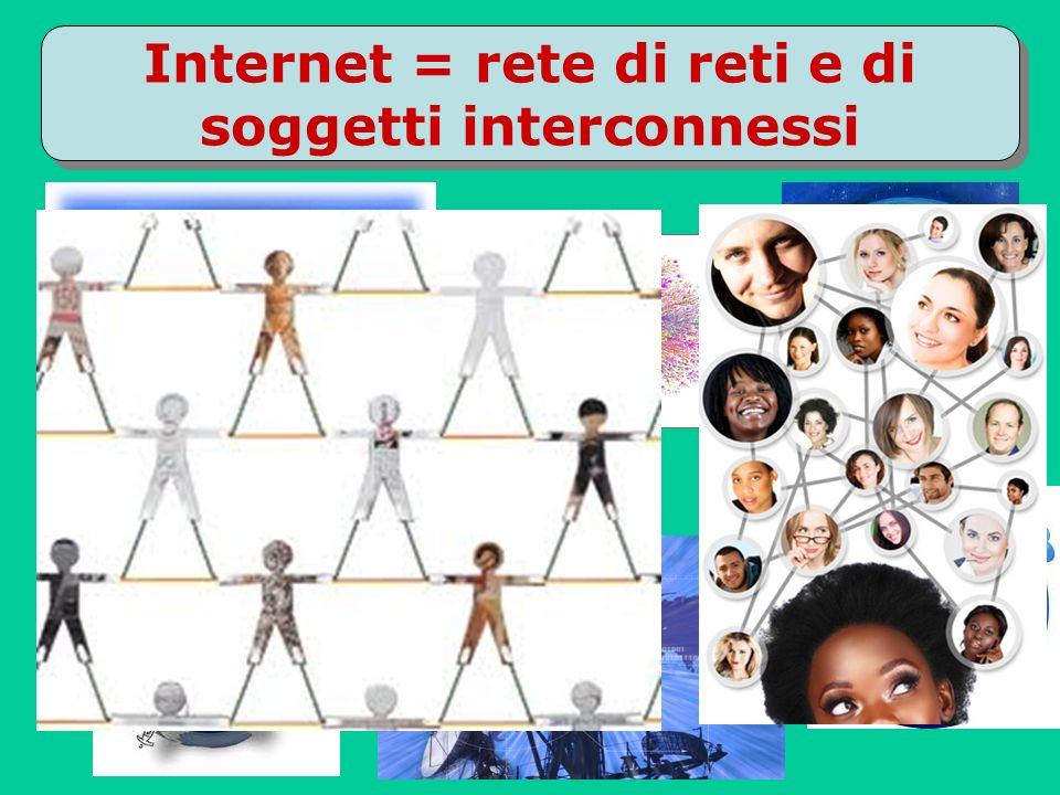 Internet = rete di reti e di soggetti interconnessi