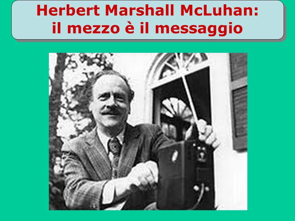 Herbert Marshall McLuhan: il mezzo è il messaggio