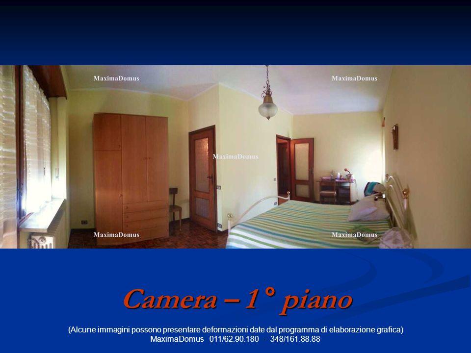 (Alcune immagini possono presentare deformazioni date dal programma di elaborazione grafica) MaximaDomus 011/62.90.180 - 348/161.88.88 Camera – 1 ° piano