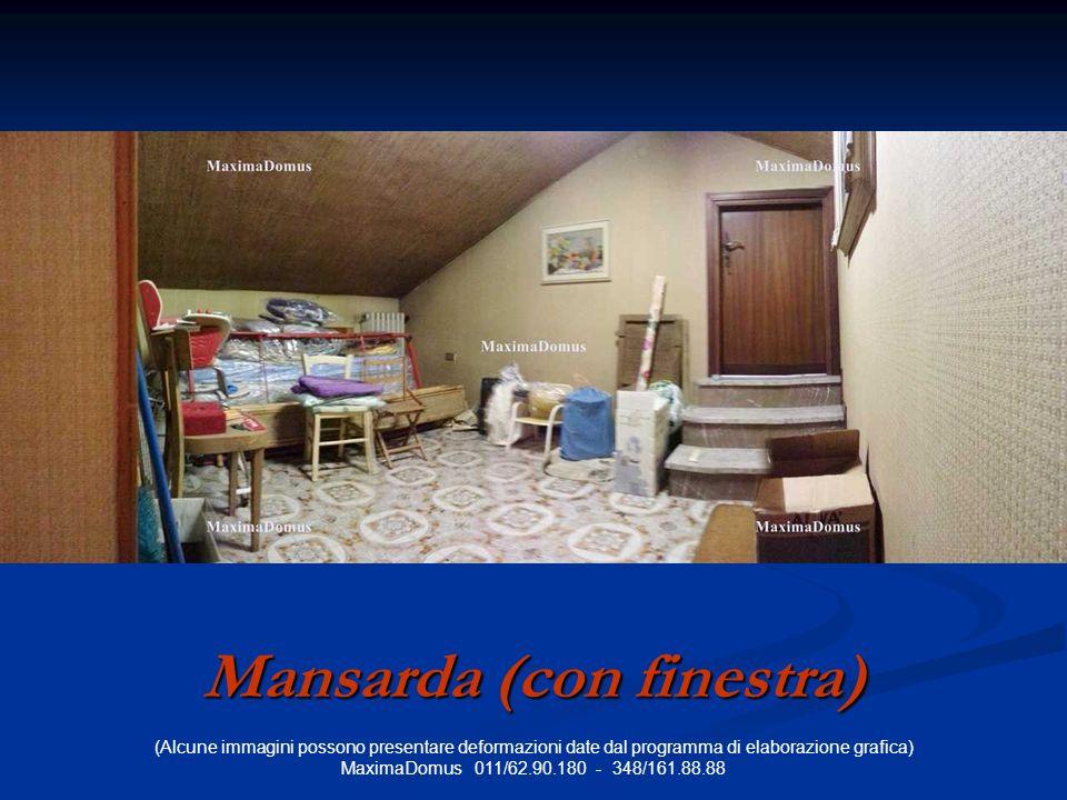 (Alcune immagini possono presentare deformazioni date dal programma di elaborazione grafica) MaximaDomus 011/62.90.180 - 348/161.88.88 Mansarda (con finestra)