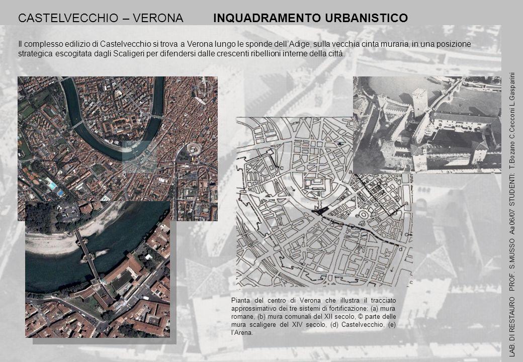 CASTELVECCHIO – VERONA INQUADRAMENTO URBANISTICO Il complesso edilizio di Castelvecchio si trova a Verona lungo le sponde dellAdige, sulla vecchia cin