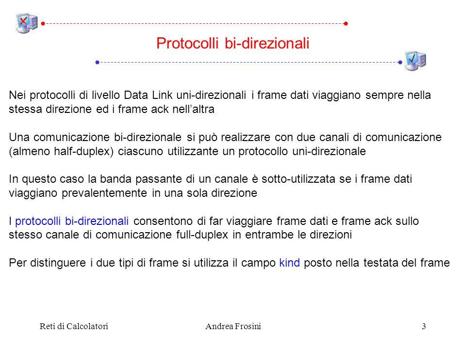 Reti di CalcolatoriAndrea Frosini4 Il piggybacking (letter.